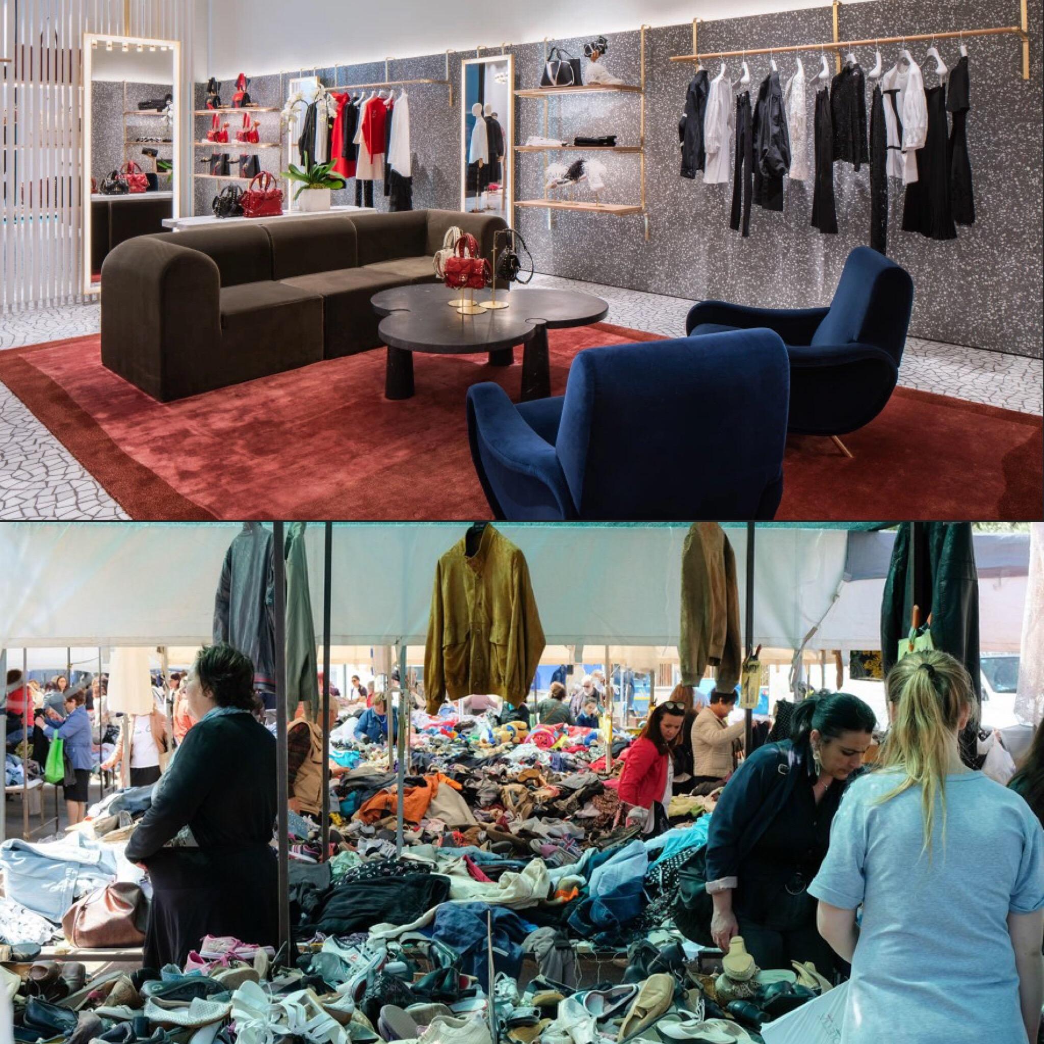 confronto tra boutique e mercato