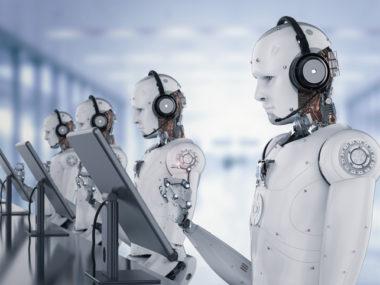 robot lavora