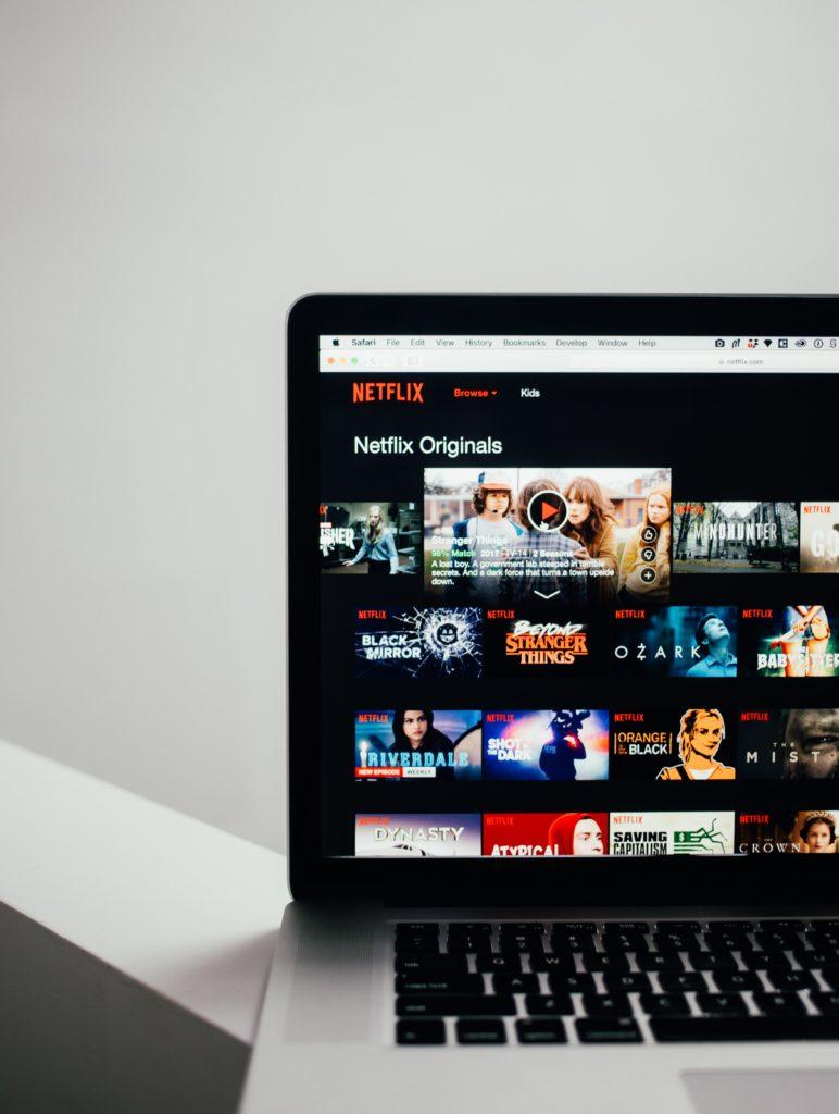 Homepage di Netflix. La piattaforma più utilizzata per fare binge watching